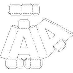 Letras 3 dimensiones cartón