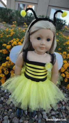 DIY- Bumblebee Costume and Ladybug Costume for American Girl Dolls