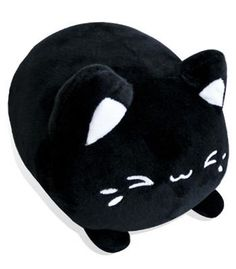 A sweet black sesame mochi cat plush by Tasty Peach Studios!