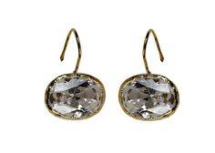 Crystal Clear  Earrings Crystal Quartz Oval Shape от BeMeJewellery, $36.90