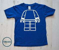 Your kid will love this DIY Lego Man Kids Tshirt