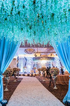 Purple themed wedding lighting decoration by delight led jakarta great works by delight jakarta httpbridestory junglespirit Image collections