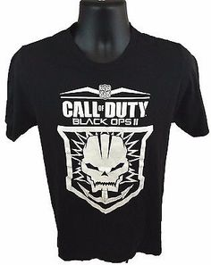 CALL OF DUTY Black Ops II Men's T-Shirt Size Medium Black M Short Sleeve Logo