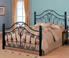 Queen Size Metal Bed Headboard and Footboard in Black Finish by Coaster Home Furnishings, http://www.amazon.com/gp/product/B00136GWZM/ref=cm_sw_r_pi_alp_pSn-qb0YNKZJW