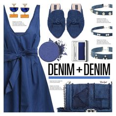 """""""All Denim"""" by asteroid467 ❤ liked on Polyvore featuring Rebecca Minkoff, Eloquii, Clinique, polyvorecommunity, alldenim and PolyvoreMostStylish"""