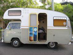 Amazing vw van :) Vw Bus T2, Kombi Camper, Kombi Motorhome, Kombi Home, Vw Volkswagen, Vw T1, Camper Van, Vintage Camper Redo, Vintage Rv