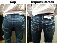 Makeover Gap to Express Rerock