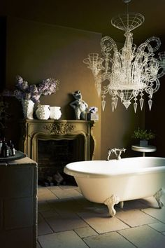 Sumptuous bathroom in Abigail Ahern's East London home