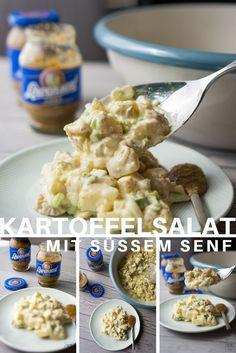 Wir haben den Kartoffelsalat verfeinert mit süßem Senf. Senf ist nämlich nicht nur Aufstrich, sondern auch Würzmittel.  #senf #mustard #sweet #süß #salat #kartoffel #potato