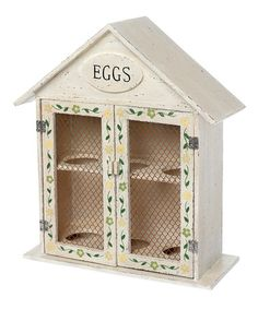 White Hand-Painted Egg House by Home Treats from Rex on #zulilyUK today!