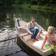 Photo by Alicia M on October 15, 2020. Image may contain: 1 person, outdoor, water and nature. Boat Wedding, Wedding Venues, October 15, Little Rock, Canoe, Magnolia, The Row, Romance, Weddings