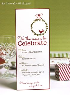 Christmas Party Invitation created with MDS