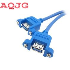 0.3m 1.5m Male To Female Extension Cable Usb3.0 To Usb3.0 Extension Cable With Screw Holes Can Be Fixed With Ear Screw Fine Workmanship Computer & Office