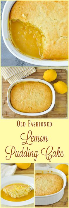 Lemon Pudding Cake - an ultimate lemon comfort food dessert, especially warm from the oven, that combines a bright, flavourful lemon cake baked on top of a tart, tangy, but not too sweet lemon sauce.