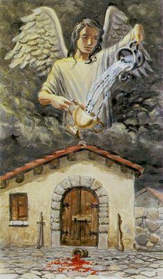 Temperance - Tarot of the Angels by Giordano Berti, Arturo Picca Temperance Tarot Card, Tarot Cards, Tarot Major Arcana, Oracle Cards, Card Reading, Magick, Cool Art, Street Art, Angels