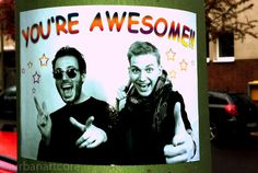 You are awesome - #Aufkleber, #Spruch, #Statement, #Sticker