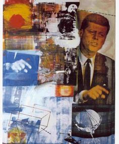 Robert Rauschenberg and Jasper Johns sought to subvert the myth of the artist as visionary creator. In doing so they anticipated the Pop Art movement. Robert Rauschenberg, Jasper Johns, Arte Pop, Action Painting, Collage Artists, Collages, Art Conceptual, Modern Art, Contemporary Art