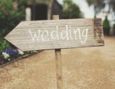 """wedding decoration picnic table   This is what I'm going to make. Do you think it should say """"wedding""""?"""