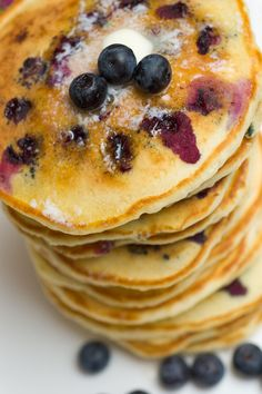 Drool-Worthy Blueberry Buttermilk Pancakes