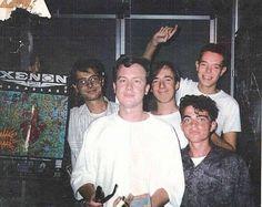 """Presentación en el Hi-Fi Hives de Milán [1989] del aclamado Xenon 2 Megablast. En primer plano Eric Matthews, co-fundador de Bitmap Brothers. Mención especial para la Banda sonora de este título, obra de """"Bomb the Bass""""."""