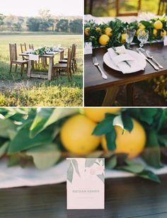 Organic Citrus Wedding Inspiration planned and designed by www.victoriacameron.com