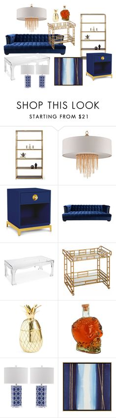 """Hollywood Regency"" by hldn-designs ❤ liked on Polyvore featuring interior, interiors, interior design, home, home decor, interior decorating, Jonathan Adler, Kim Salmela, Plexi-Craft and The Mason Shaker"