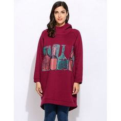 New Women Casual Long Sleeve Hooded Pullover Prints Long Hoodies