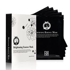 Brightening Face Mask For Women and Men By ERH  Top Rated Natural Hydrating and Skin Toning Formula Beauty Spa Facials At Home 5 Full Sheet Masks In A Pack ** Visit the image link more details. (Note:Amazon affiliate link)