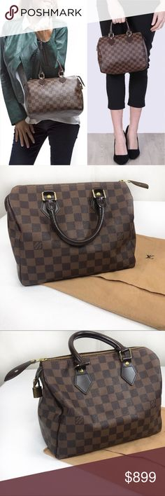 ee8ecb15dfb Louis Vuitton Damier Ebene Speedy 25 purse A classic! Small enough yet big  enough to