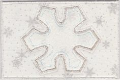 Snowflake Fabric Postcard