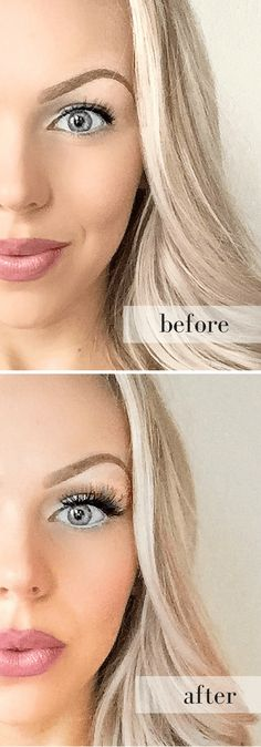 """How to get the """"eyelash extension"""" look with false lashes! #eyelashextensions #falselashes"""