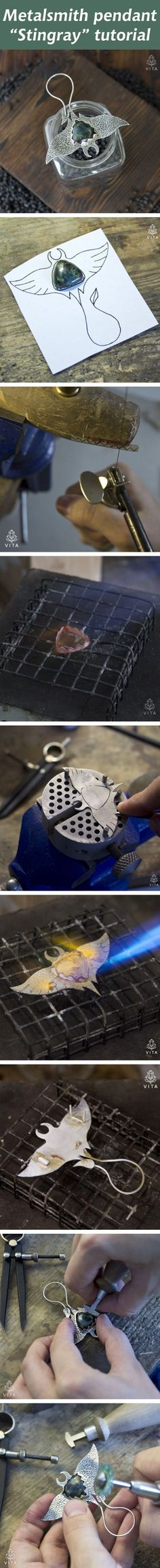 "Metalsmith pendant ""Stingray"" tutorial"
