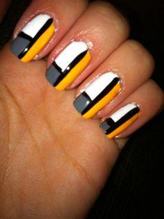 color block nails easy nail art nail design