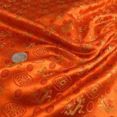 Orange Silk Brocade