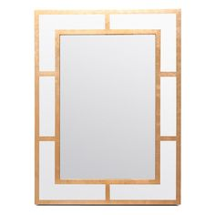 """30""""W x 40""""H $850White lacquer with gold leafing creates the neo-classical look of our Tate. Its precise design is softened by the rose gold detailing, ensuring that this Grecian-inspired piece brings plenty of warmth to its stridency.   Finish: White/Warm Gold Lacquer (Shown)"""