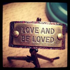 Love and Be Loved Leather Bracelet