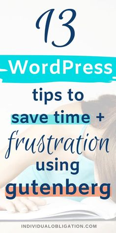 Learn how to get the most out of the WordPress Gutenberg block editor with these top WordPress tips, tricks and hacks. That aim to save you time and frustration with using WordPress Gutenberg as a blogger. Even if you are a beginner blogger. Click here to start getting the most out of this important blogging tool for writing your blog content. #WordPressTips #WordPressGutenberg #BloggingTips #BlogTips
