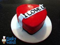 I Love U Cake