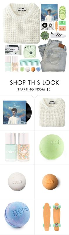 """""""blue neighbourhood"""" by sejal1043 ❤ liked on Polyvore featuring Acne Studios, Abercrombie & Fitch and adidas Originals"""