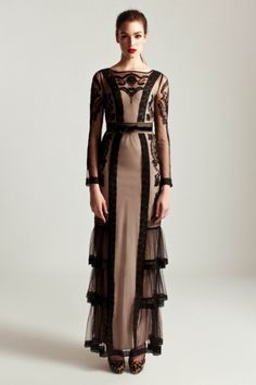 Alice by Temperley - Long Sleeved Botanical Dress Modest Fashion, High Fashion, Fashion Dresses, Maxi Dresses, Runway Fashion, Womens Fashion, Fantasy Dress, Beautiful Outfits, Vintage Dresses