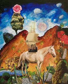 Gavin Lavelle Mixed Media Collage, Fantasy, Ink, Artist, Painting, Animals, Inspiration, Biblical Inspiration, Animales