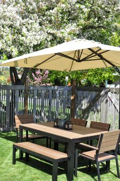 Falster set from ikea: $360 for bench, table and 2 chairs. Just over $500 for 4 chairs, bench table and large umbrella with stand.
