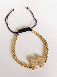 Gold plated Boy and Girl adjustable bracelet  | Shop this product here: http://spreesy.com/Vitaambita/47 | Shop all of our products at http://spreesy.com/Vitaambita    | Pinterest selling powered by Spreesy.com
