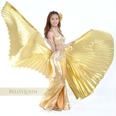 belly dance hand wing , belly dance isis wing,lame wings for belly dancing