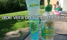 Discovered the beauty of aloe vera recently.  First time needing to use it!
