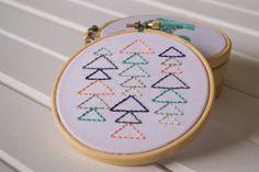 Kit de broderie géométrique moderne / Kit de broderie / Embroidery Triangle Plus