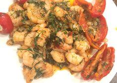 Garnéla kaporral | Eva Firnigel receptje - Cookpad receptek Shrimp, Feta, Food And Drink, Chicken, Cubs
