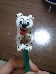 ponteira para lápis  cachorro dálmata biscuit