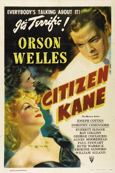 Citizen Kane is a 1941 American drama film, directed by and starring Orson Welles. It was released by RKO Pictures, and was Welles's first feature film. The film was nominated for Academy Awards in nine categories; it won an Academy Award for Best Writing (Original Screenplay) by Herman Mankiewicz and Welles. Citizen Kane has been voted the greatest film of all time in each of the last five Sight & Sound's polls of critics,[3] and is particularly praised for its innovative cinema <3 <3 <3…