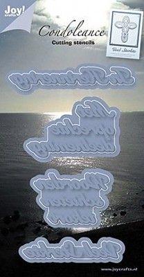 (blad-9) Joy!Crafts Cutting & Embossing Condoleance NL (6002/0239)